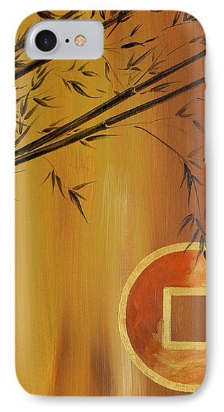 IPhone Case featuring the painting Good Fortune Bamboo 2 by Dina Dargo