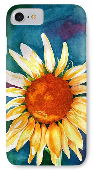 IPhone Case featuring the painting Good Morning Sunflower by Sharon Mick
