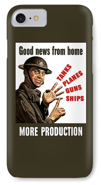 Good News From Home - More Production Phone Case by War Is Hell Store