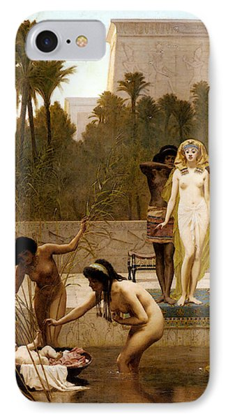 Goodall Frederik The Finding Of Moses IPhone Case by Frederick Goodall