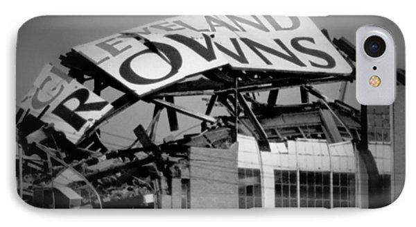 Football iPhone 7 Case - Goodbye Cleveland Stadium by Kenneth Krolikowski
