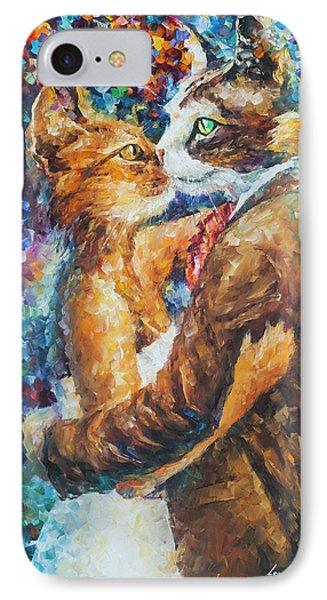 Goodbye My Miau  Phone Case by Leonid Afremov