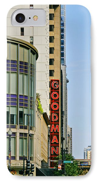 Goodman Memorial Theatre Chicago Phone Case by Christine Till