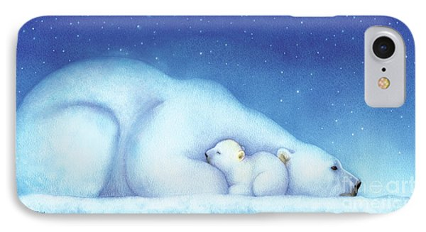 Arctic Bears, Goodnight Nanook IPhone Case by Tracy Herrmann