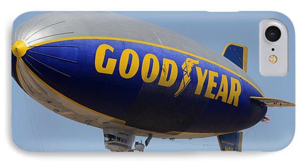 Goodyear Blimp Spirit Of Innovation Goodyear Arizona September 13 2015 IPhone Case