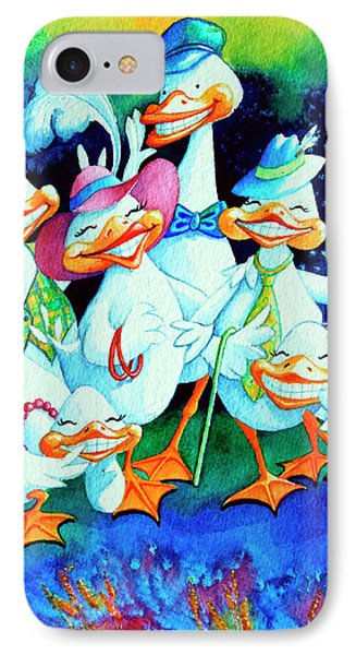 Goofy Gaggle Of Grinning Geese Phone Case by Hanne Lore Koehler