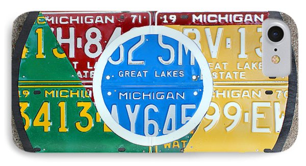 Google Chrome Logo Recycled License Plate Art On Cement Wall IPhone Case