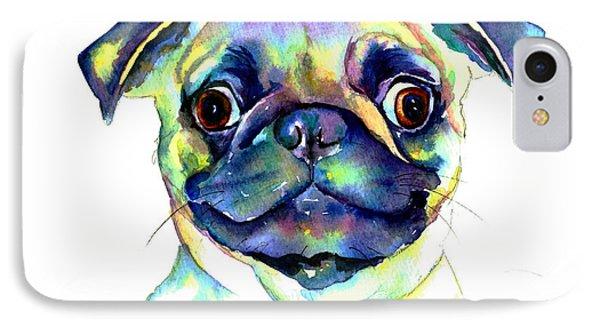 Google Eyed Pug IPhone Case by Christy  Freeman