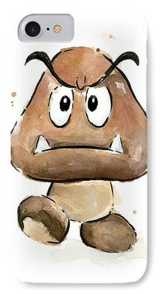 Goomba Watercolor IPhone Case