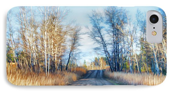 Goose Lake Road IPhone Case by Theresa Tahara