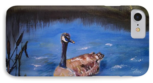 IPhone Case featuring the painting Goose by Leslie Allen
