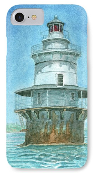 Goose Rocks Light At High Tide Phone Case by Dominic White