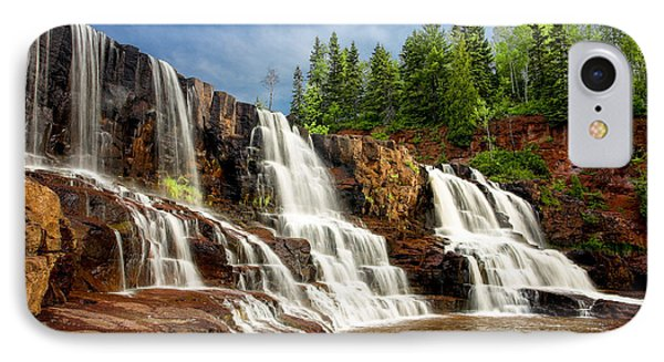 IPhone Case featuring the photograph Gooseberry Falls by Rikk Flohr