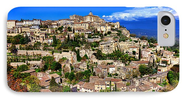IPhone Case featuring the photograph Gordes by Olivier Le Queinec