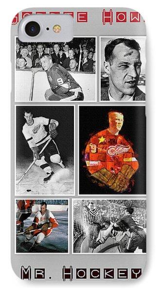 Gordie Howe IPhone Case by Big 88 Artworks