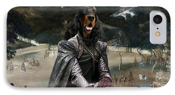 Gordon Setter Art Canvas Print - Philip Iv Hunting Wild Boar  IPhone Case by Sandra Sij