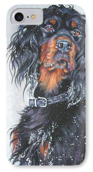 Gordon Setter In Snow IPhone Case