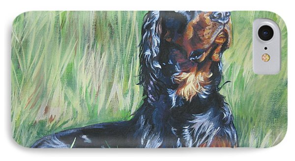 Gordon Setter In The Grass IPhone Case