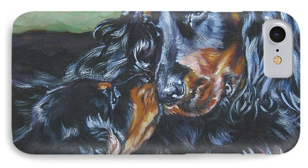 Gordon Setter Mom And Pup IPhone Case