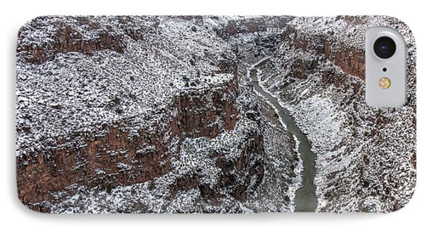 IPhone Case featuring the photograph Gorge In Snow by Britt Runyon