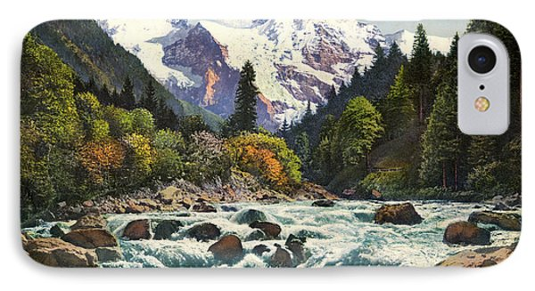 Gorge Of The Lutschine River Interlaken IPhone Case by Celestial Images