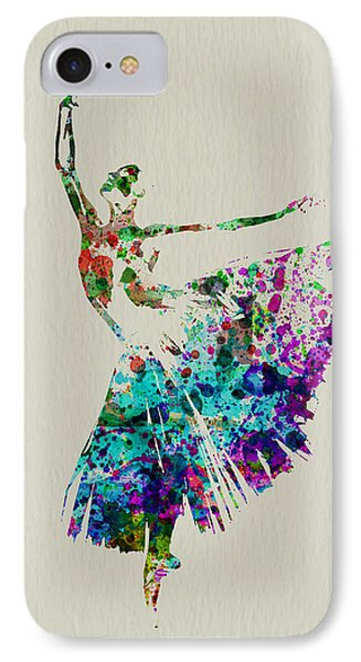 Gorgeous Ballerina IPhone Case by Naxart Studio