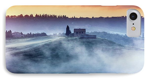 Gorgeous Tuscany Landcape At Sunrise Phone Case by Evgeni Dinev