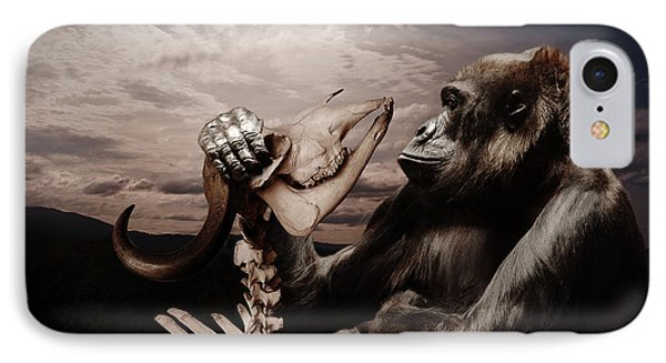 IPhone Case featuring the photograph Gorilla And Bones by Christine Sponchia