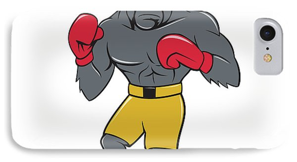 Gorilla Boxer Boxing Stance Cartoon IPhone Case