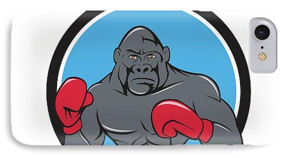 Gorilla Boxer Boxing Stance Circle Cartoon IPhone Case
