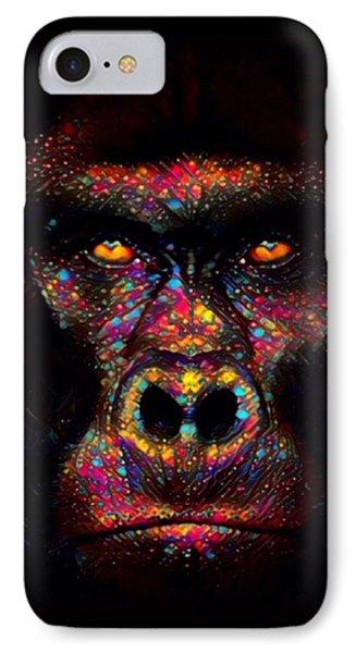 Gorilla Color Splash  IPhone Case