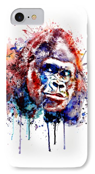 IPhone Case featuring the mixed media Gorilla by Marian Voicu