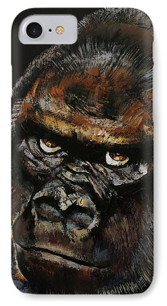 Gorilla IPhone Case by Michael Creese