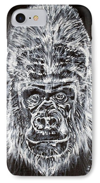 IPhone Case featuring the painting Gorilla Who? by Fabrizio Cassetta