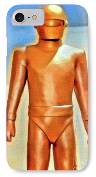Gort From The Day The Earth Stood Still. Digital Art By Mb IPhone Case