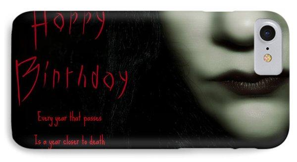 Goth Birthday Card Phone Case by Lisa Knechtel