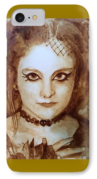 Goth Lady Phone Case by Chrissey Dittus