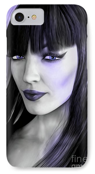 Goth Portrait Purple IPhone Case