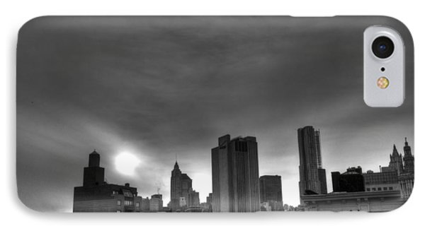 Gotham Black And White Phone Case by Randy Aveille