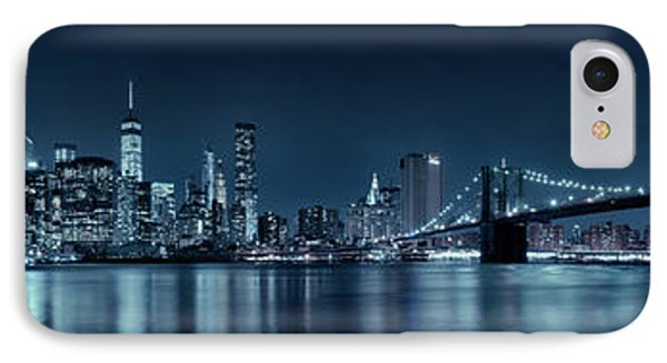 IPhone Case featuring the photograph Gotham City Skyline by Sebastien Coursol