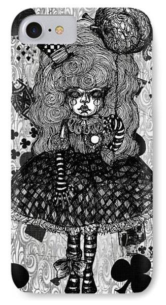 Gothic Cute Girl IPhone Case by Akiko Okabe