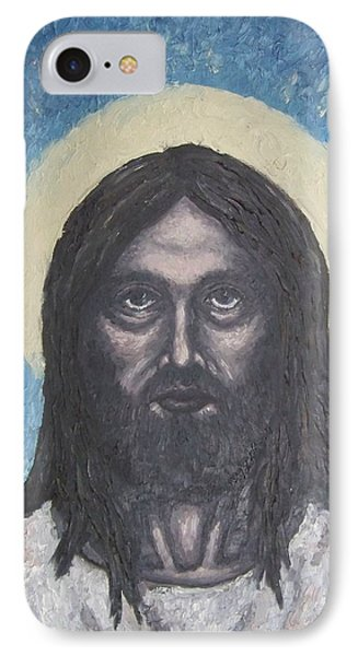 IPhone Case featuring the painting Gothic Jesus by Michael  TMAD Finney