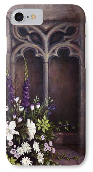 Gothic Wedding Bouquet Phone Case by Sean Conlon