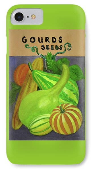Gourd Seed Packet Purple IPhone Case