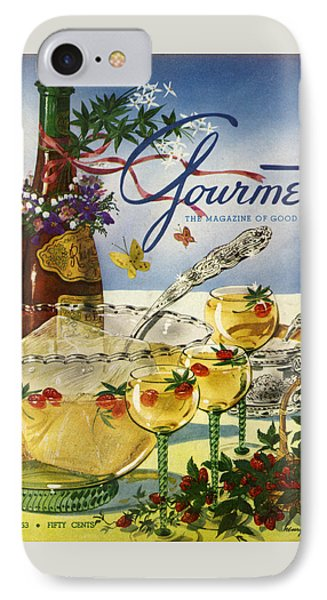 Gourmet Cover Featuring A Bowl And Glasses IPhone Case by Henry Stahlhut