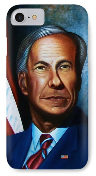 IPhone Case featuring the painting Gov Greg Abbott by Gene Gregory
