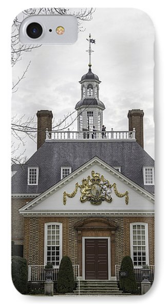 Governors Palace Back Door 01 IPhone Case by Teresa Mucha
