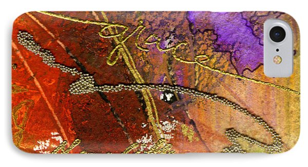 IPhone Case featuring the mixed media Grace by Angela L Walker