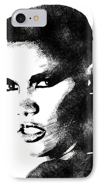 Grace Jones Bw Portrait IPhone Case by Mihaela Pater