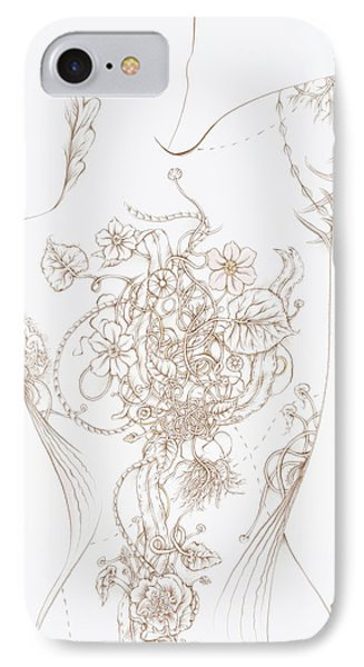 Grace IPhone Case by Karen Robey